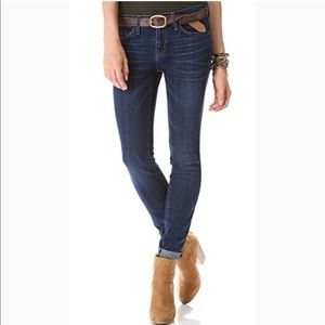 Current/Elliott skinny but rolled up jeans